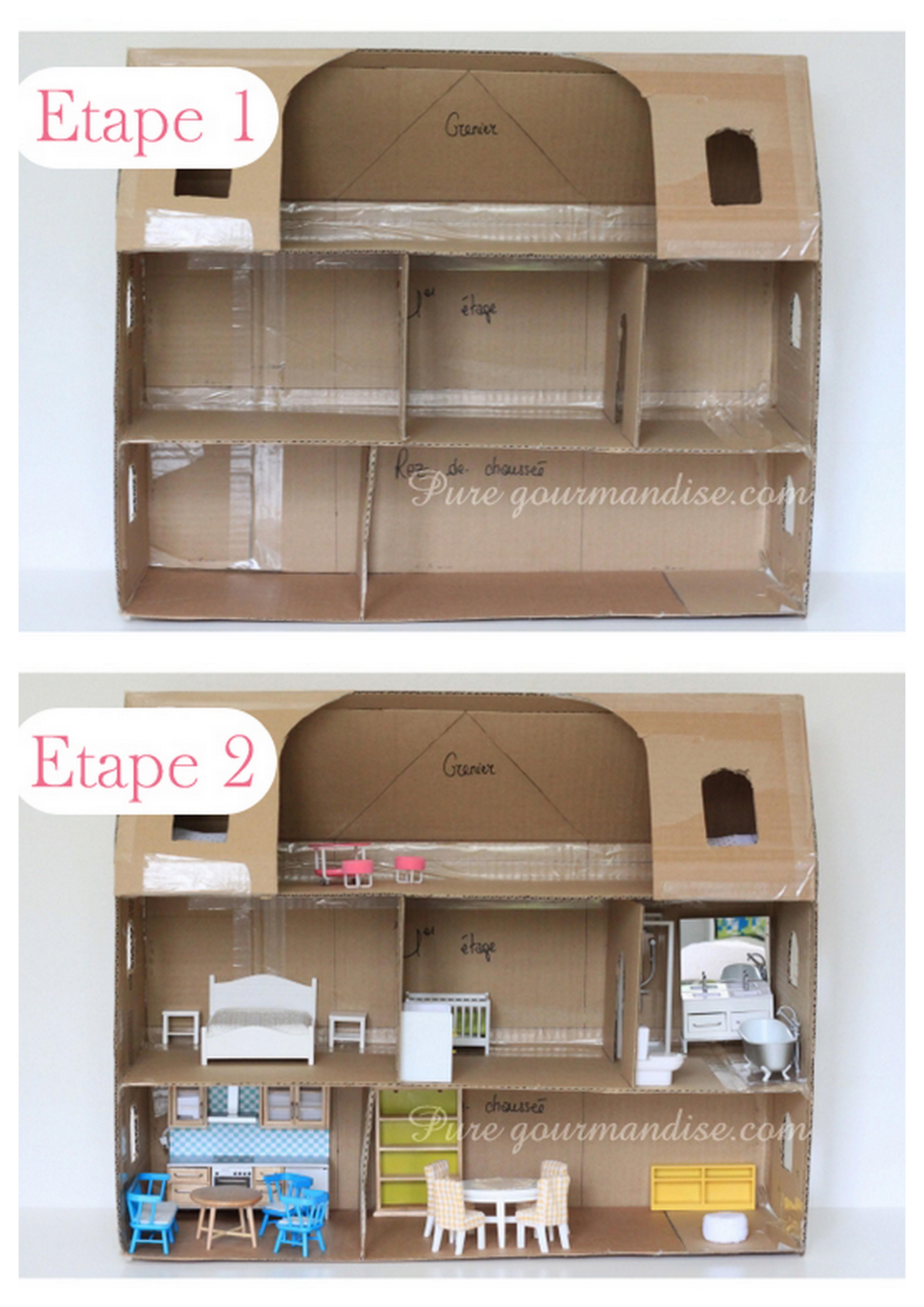 Maquette en carton de ma maison de poupée - PureGourmandise