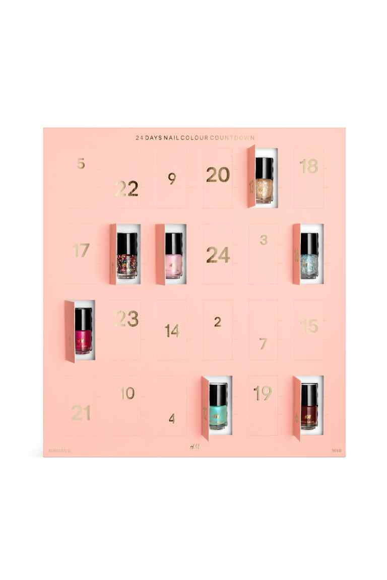Calendrier avent vernis 2016 H&m