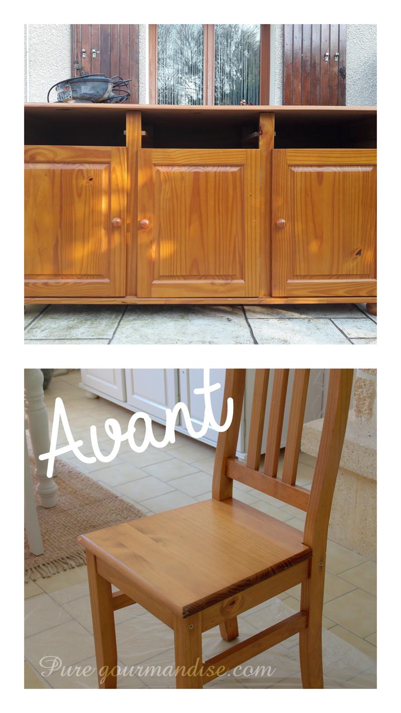 Refaire Les Meubles De Cuisine diy] repeindre des meubles en pin vernis | pure gourmandise